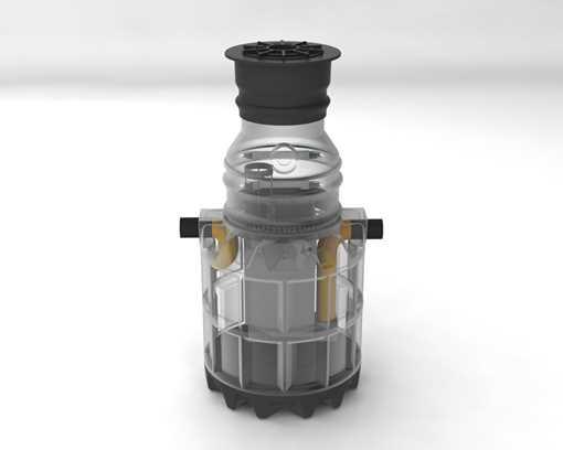 Oldebjerg Sepko 3 olieudskiller. Formålet med udskiller er, at fjerne olie- og benzinrester fra spil