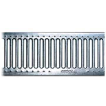B100 x H100 x L500 mm Tværrende m/ 6 mm galvaniseret rist til 1,5t belastning