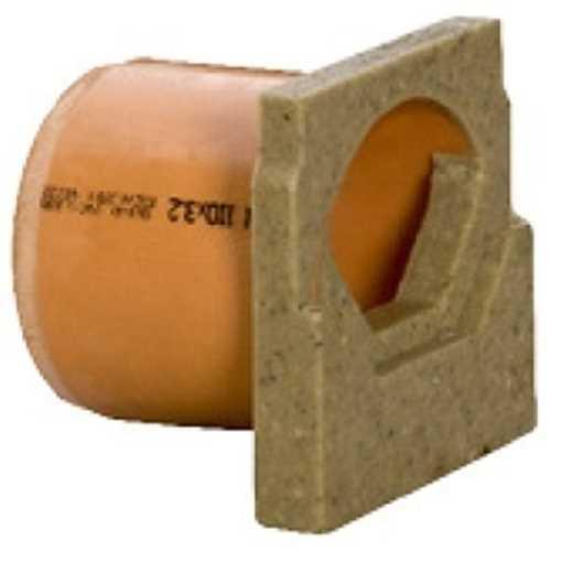 Endebund m/ 110 mm vandret udløb. B125 x H100 mm.