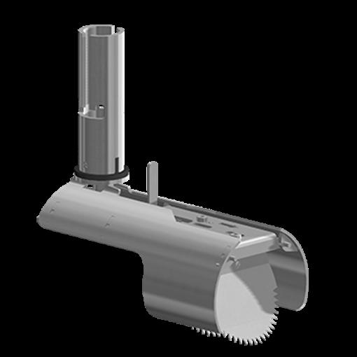 Nordisk Innovation TX11 universal rottespærre med vendbar spjæld 100/110 mm. Kan bruges i beton, ler