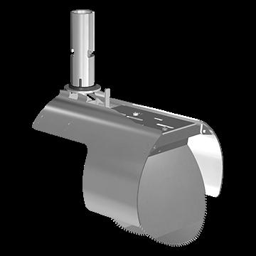 Nordisk Innovation rottespærre med vendbar spjæld 200 mm glatte pvc. Rottespærrer har til formål at