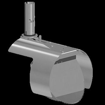 Nordisk Innovation rottespærre med vendbar spjæld 200 mm til beton. Rottespærrer har til formål at h