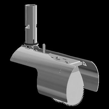 Nordisk Innovation TX11 rottespærre til stømpeforet rør med vendbar spjæld 150/160 mm. Rottespærrer