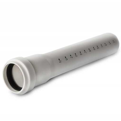 Htp afløbsrør med stikmuffe 32 x 2000 mm i hvid grå afløbsrør, grå kloakrør, plastrør, htp rør, grå