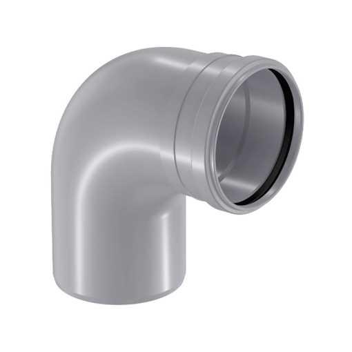 HTP afløbsbøjning 32 mm x 88° i grå, grå afløbsbøjning, grå kloakbøjning, plastbøjning , htp bøjning