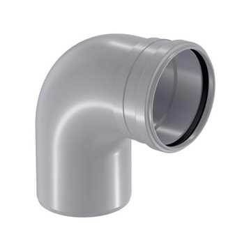 HTP afløbsbøjning 50 mm x 88° i grå grå afløbsbøjning, grå kloakbøjning, plastbøjning , htp bøjning,