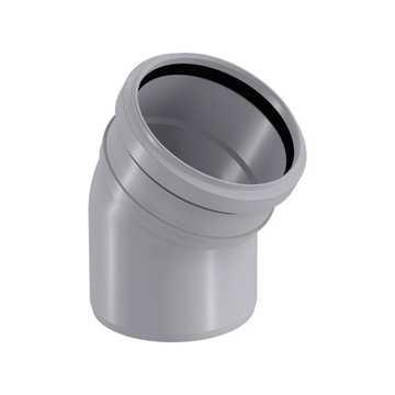 HTP afløbsbøjning 75 mm x 30° i grå grå afløbsbøjning, grå kloakbøjning, plastbøjning , htp bøjning,