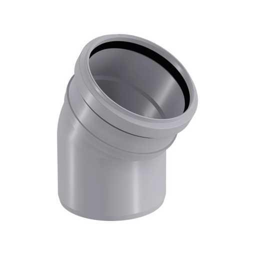 HTP afløbsbøjning 110 mm x 30° grå htp bøjning