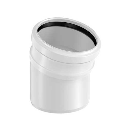 HTP afløbsbøjning 32 mm x 15° i hvid afløbsrør, grå kloakrør, plastrør, htp rør, grå kloakfitting