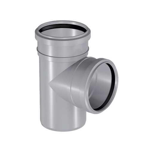 HTP grenrør 32 x 32 mm 88° i grå grå afløbsgrenrør, grå kloakgrenrør, plastgrenrør, htp grenrør, grå