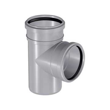HTP grenrør 110 x 50 mm 88° i grå grå afløbsgrenrør, grå kloakgrenrør, plastgrenrør, htp grenrør,