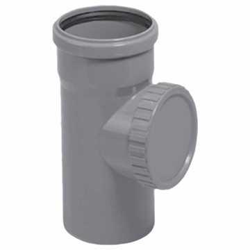 HTP Renserør 75 mm i grå