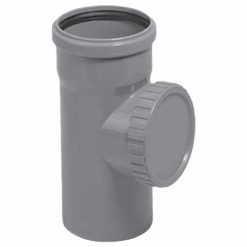 HTP renserør 110 mm i grå