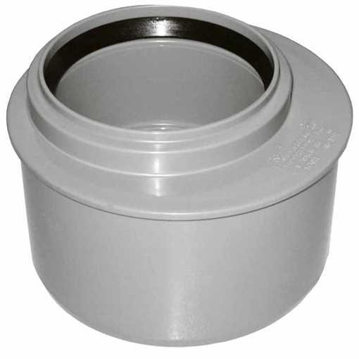 HTP reduktion excentrisk 110 x75 mm i grå