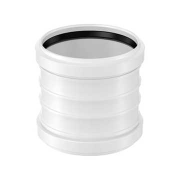 HTP dobbeltmuffe 32 mm hvid