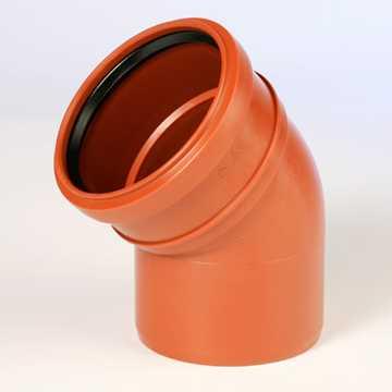 Kloakbøjning i PP, glat 250 mm pp kolak tee grenrør kloak plast kloakfittings