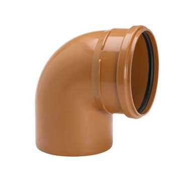 Kloakbøjning PP 400 mm x 15° PP kloakbøjning pp kloakfittings kloakplast kloakvinkel pp
