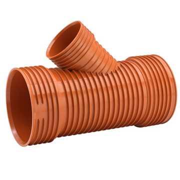 Uponor Ultra Rib2/Double kloakgrenrør 200 x 200 mm 45°. Ekskl. tætningsring.