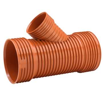 Uponor Ultra Rib2/Double kloakgrenrør 315 x 250 mm x 45° Ekskl. tætningsring.