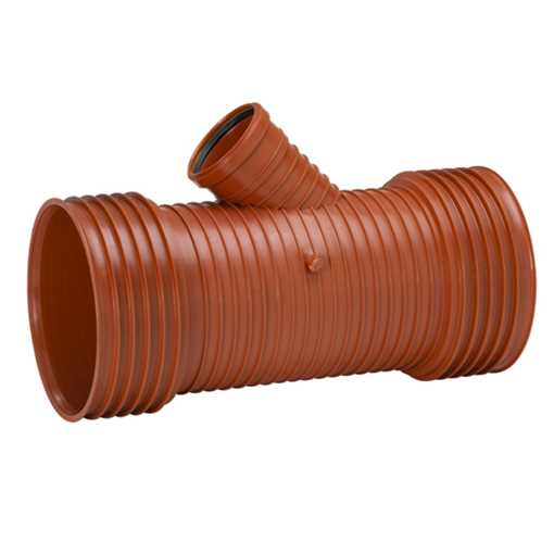 Uponor Ultra Rib2/Double kloakgrenrør 450 x 315 mm x 45° Tætningsring medfølgere ikke.