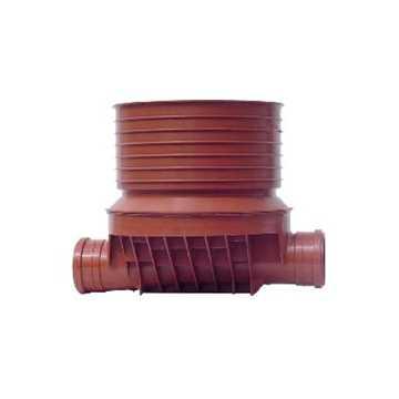 Uponor rense og inspektionsbrønd for 315 mm opføring i 200 mm lige - type 1 i PP. Til glat, ribbet o