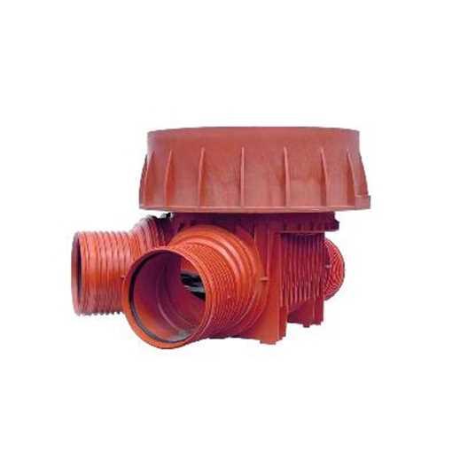 Uponor rense og inspektionsbrønd for 600 mm opføringsrør i 315 mm tilløb til højre - type 4 i PP. Ti