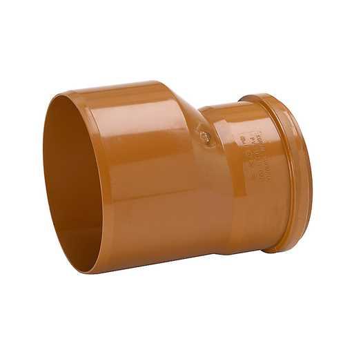Kloakreduktion i PP 250 x 200 mm, glat. Mål : L 147 - L2 264 mm. reduktion kloak pp fittings kloak