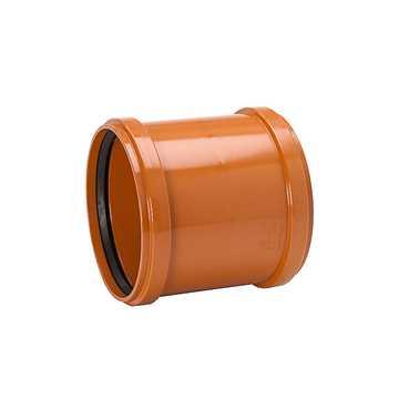 Kloakskydemuffe 200 mm PP kloakdobbeltmuffe pp dobbeltmuffe kloakfitting