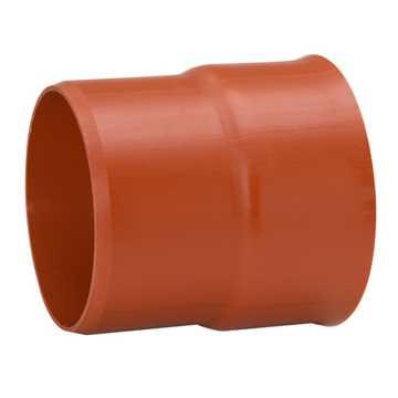 Uponor Ultra Rib2/Double kloakovergangsstykke  400 x 450 mm. Fra Ultra Double-spidsende til glat muf