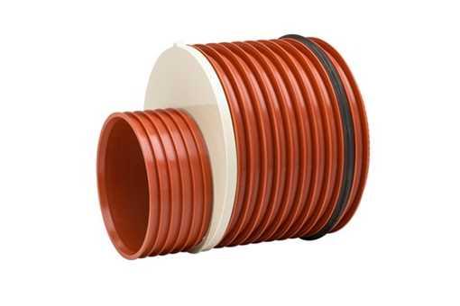 Uponor Ultra Rib2/Double kloakreduktion 250 x 200 mm. Med påsat tætningsring.