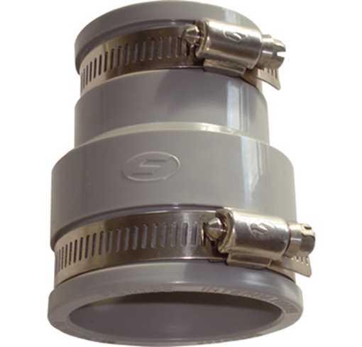 Fernco overgangsmanchet 88-75/58-50 mm. Anvendes på alle glatte rør som plast, rustfri, støbejern og