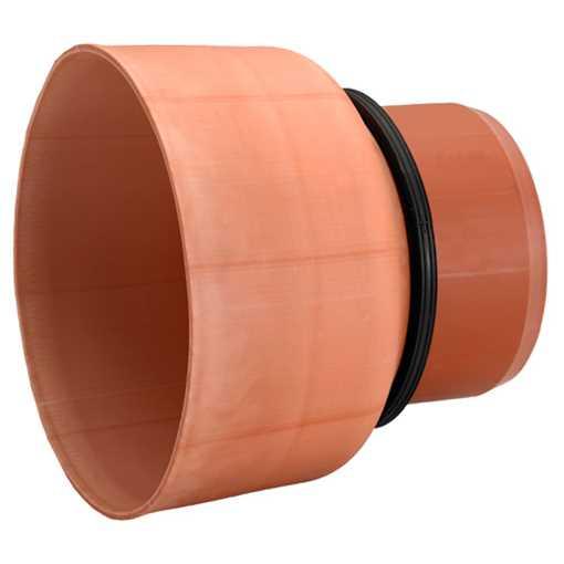 Overgangsstykke 315 mm fra ler/ beton spidsende til PVC-rør