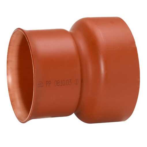 Uponor Ultra Rib2/Double kloakovergangsstykke  400 x 400 mm. Til betonrørsspiddsende.