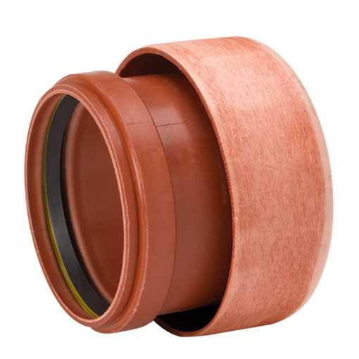Uponor Ultra Rib2/Double kloakovergangsstykke  450 x 400 mm. Til betonrørsmuffe.