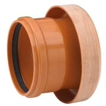 Uponor kloakovergang PVC 160 mm PVC til lerrørsmuffe overgang pvc