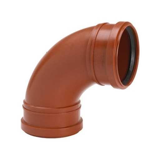 Kloakbøjning i PP 110 mm x 88°kloakbøjning pp kloakfittings kloakplast kloakvinkel PP
