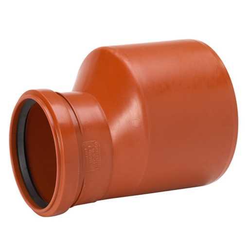 Kloakreduktion i PP 160 x 110 mm glat kloak reduktion pp kolakreduktion kloakfittings billigt pris