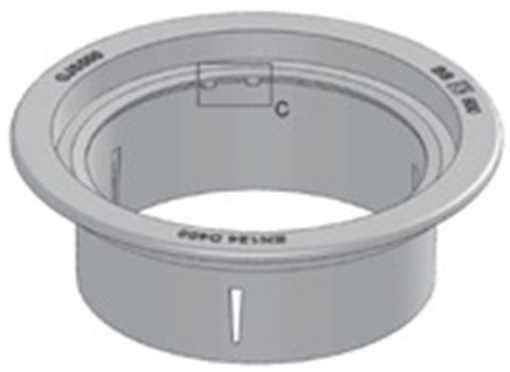 BB 600 mm 200 x 40t flydende karm med afdrejet anlægsflade, GGG50 sejjern.