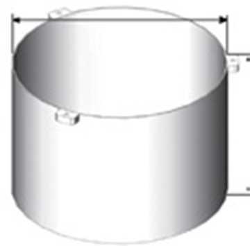 BB teleskoprør til kuppelrist i 600 mm i varmgalvaniseret.