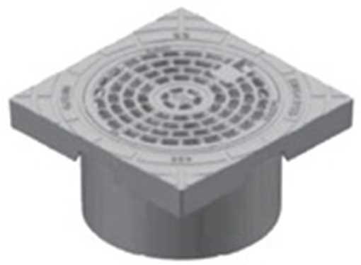 BB Karm og rist 200 mm med låsearme i GG 20 Gråjern. Tåler op til 12,5 tons belastning.