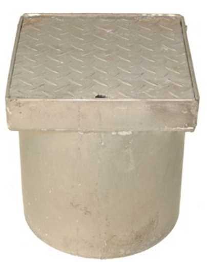 Rendestenskarm med dæksel i 315 mm. Tåler op til  2,5 tons belastning.