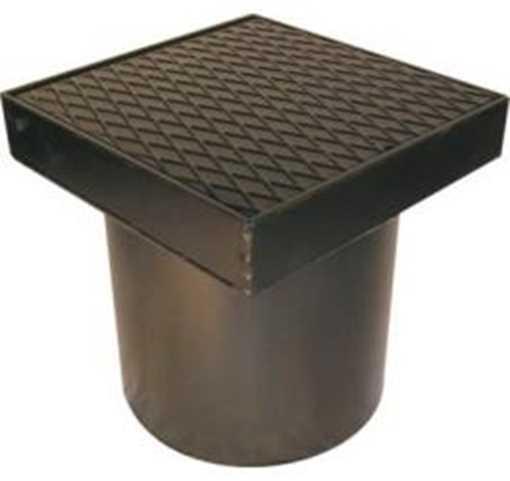 Flydende firkantet rendestenskarm med dæksel i 315 mm. Tåler op til 2,5 ton i belastning.