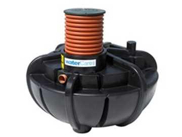 med DN500 (569/500 mm) opføringsrør. CE-mærket efter EN12566-1. Alarm og låg kan tilkøbes.