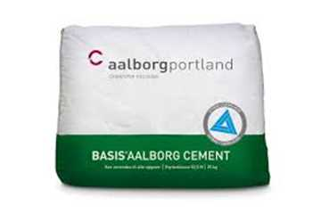 Aalborg Basis cement 25 kg. Leveres enkelvis eller på en palle á 42 stk.