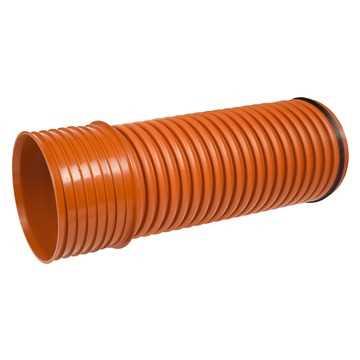 Kaczmarek K2 rør 250 x 3000 mm PP i klasse SN 8 incl muffe og gummi.