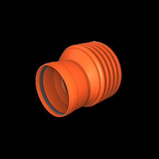 Kaczmarek K2 reduktion 200 x 160 mm med K2 muffe til glat spids kloak reduktion