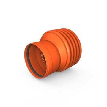 Kaczmarek K2 kloakreduktion PP 300 mm x  250 mm med K2 muffe til glat spids.
