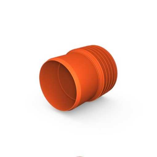 Kaczmarek K2 kloakovergang PP 200 mm x  200 mm med K2 muffe til PVC.