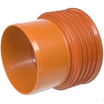 Kaczmarek K2 kloakovergang PP 250 mm x  250 mm med K2 muffe til PVC.