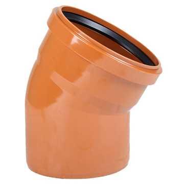 Kloakbøjning PVC 110 mm x 30° PVC kloak vinkel pvc kloakbøjning pvc kloakvinkel pvc kloakfittings